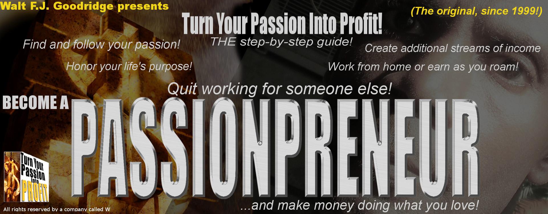 PassionProfit™ site banner