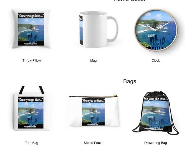 Saipan Blue Merchandise