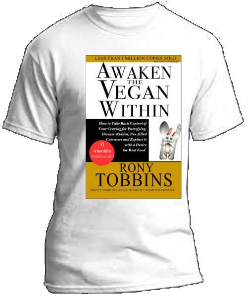 tshirt image for Awaken the Vegan Within tshirt